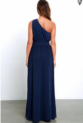 Sexy Navy Blue One Shoulder Prom Dress UKes UK Chiffon Long Floor Length BA3598_3