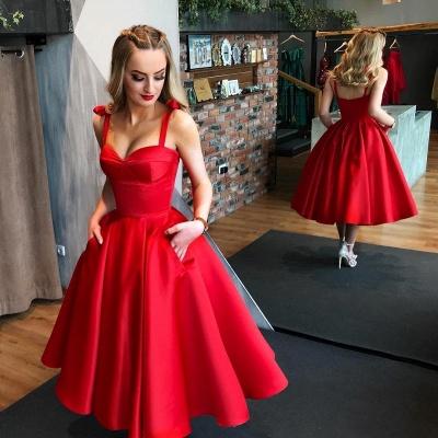 Sexy Sweetheart Red Short Prom Dress UK | 2019 Tea-Length Homecoming Dress UK_3