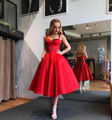 Sexy Sweetheart Red Short Prom Dress UK | 2019 Tea-Length Homecoming Dress UK_4