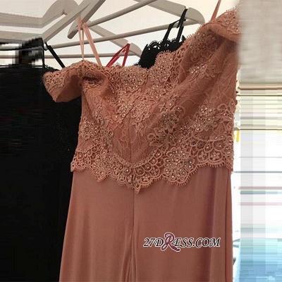 Lace Beading Off-the-shoulder Pink Elegant Sheath Spandex Long Sexy Evening Dress UKes UK BA4148_2