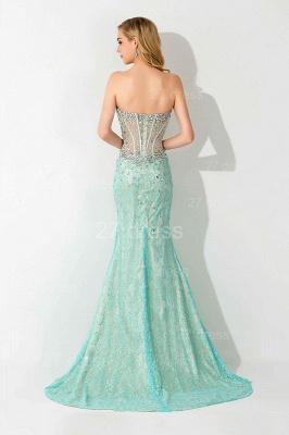Gorgeous Front Split Crystals Evening Dress UK Sweetheart Sleeveless_4