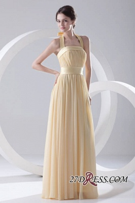 Floor-Length A-Line Yellow Zipper Ruffles Gorgeous Bridesmaid Dress UKes UK_3