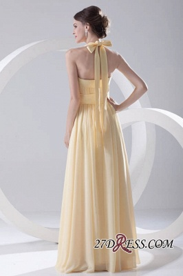 Floor-Length A-Line Yellow Zipper Ruffles Gorgeous Bridesmaid Dress UKes UK_5