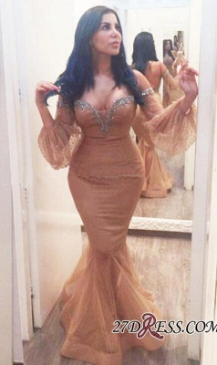 Off-the-Shoulder Hot Sequins Mermiad Backless Plus-Size Evening Gown_2