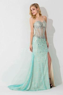 Gorgeous Front Split Crystals Evening Dress UK Sweetheart Sleeveless_3