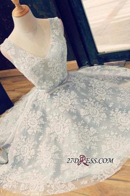 Lace Gorgeous Sleeveless V-Neck Short A-Line Homecoming Dress UKes UK_3