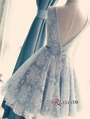 Lace Gorgeous Sleeveless V-Neck Short A-Line Homecoming Dress UKes UK_2
