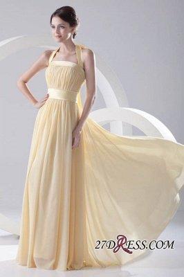 Floor-Length A-Line Yellow Zipper Ruffles Gorgeous Bridesmaid Dress UKes UK_4