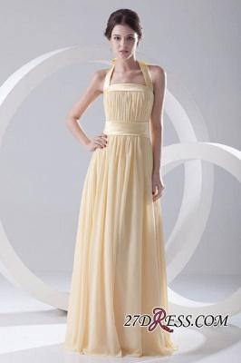 Floor-Length A-Line Yellow Zipper Ruffles Gorgeous Bridesmaid Dress UKes UK_6