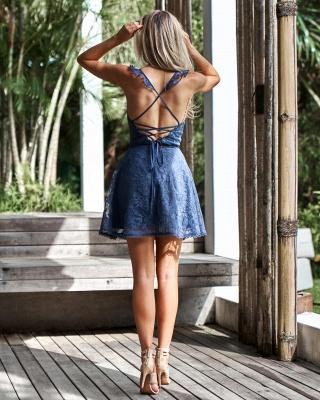 Lovely Sweetheart Lace Homecoming Dress UK | Mini Party Dress UK On Sale_4