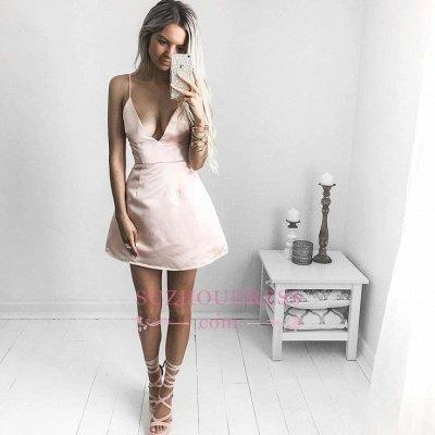V-neck Short Prom Dress UK | Sexy Homecoming Dress UK On Sale_1