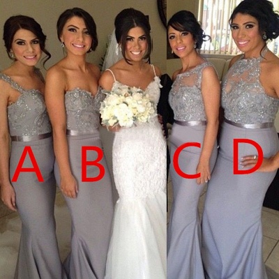 Different Styles Lace Appliques Mermaid Bridesmaid Dress UK_3