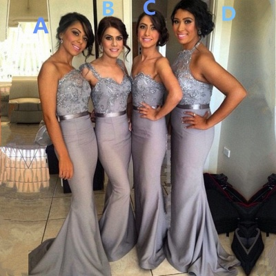 Different Styles Lace Appliques Mermaid Bridesmaid Dress UK_2