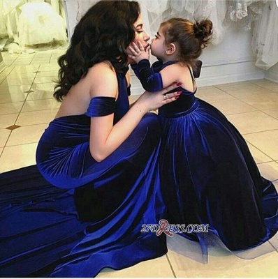 Halter Court-Train Velvet Mermaid Open-Back Elegant Prom Dress UK qq0125_3