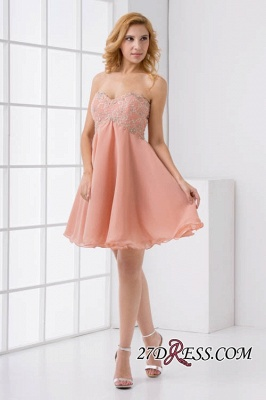 Lace-Up A-line Appliques Short Sweetheart Sexy Bridesmaid Dress UKes UK_6