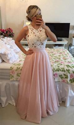 Modern Illusion Chiffon A-line Prom Dress UK Lace Pearls BT0_1