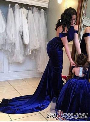 Halter Court-Train Velvet Mermaid Open-Back Elegant Prom Dress UK qq0125_4