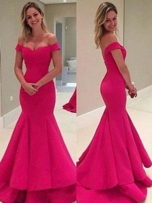 Elegant Off-the-Shoulder Prom Dress UK | Long Mermaid Evening Gowns_2