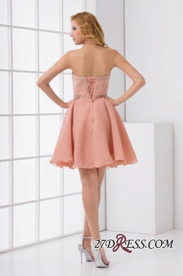Lace-Up A-line Appliques Short Sweetheart Sexy Bridesmaid Dress UKes UK_5