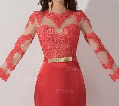 Newest Long Appliques Lace Appliques Evening Dress UK A-line Sash_2