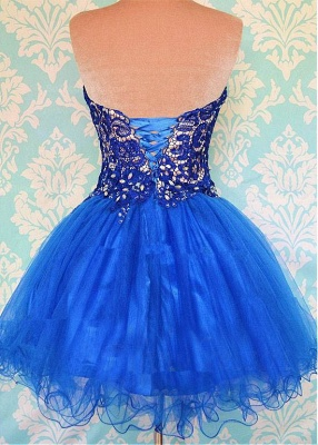 Modern Sweetheart Sleeveless Short Homecoming Dress UK With Appliques_2