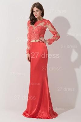 Newest Long Appliques Lace Appliques Evening Dress UK A-line Sash_3