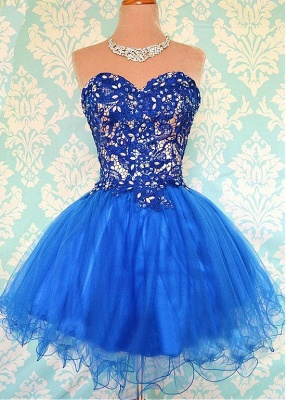 Modern Sweetheart Sleeveless Short Homecoming Dress UK With Appliques_1