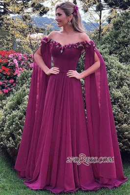 Sweetheart Formal Chiffon Prom Dress UK | Long Evening Gowns With Ruffles_3