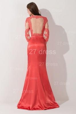 Newest Long Appliques Lace Appliques Evening Dress UK A-line Sash_4
