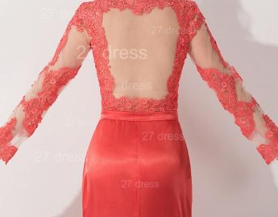 Newest Long Appliques Lace Appliques Evening Dress UK A-line Sash_5