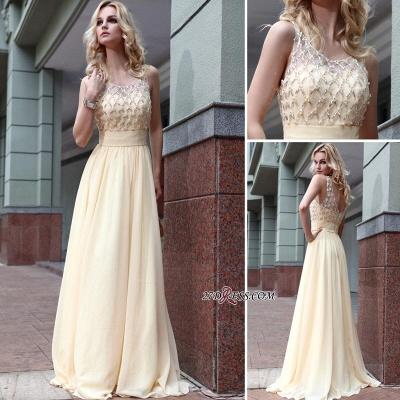 Zipper Beads Sleeveless Chiffon Newest A-line Jewel Prom Dress UK_2