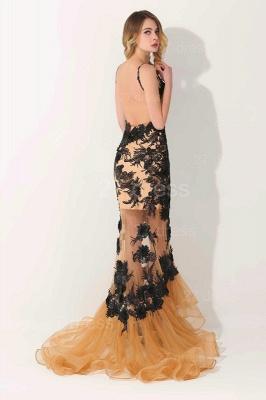 Gorgeous Elegant V-Neck Appliques Mermaid Evening Dress UK On Sale_4