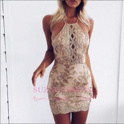 Sleeveless Elegant Backless Mini Lace-Appliques Tight Short Homecoming Dress UK BA6717_1