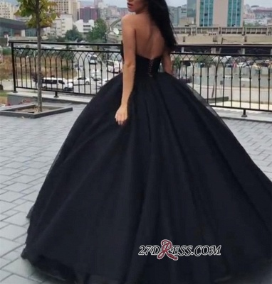 Black ball gown prom Dress UK, evening Dress UKes UK BA8310_4