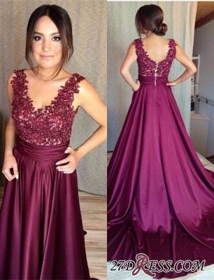 Sleeveless Appliques Zipper Luxury Lace Prom Dress UK BA7351_3