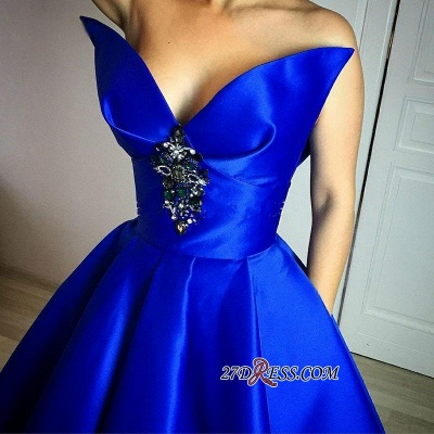 Sexy Crystal Floor-Length Royal-Blue Ball-Gown Prom Dress UK_2