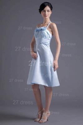 Modern Halter Sleeveless Short Cocktail Dress UK Flowers A-line_1