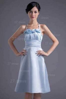 Modern Halter Sleeveless Short Cocktail Dress UK Flowers A-line_4