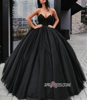 Black ball gown prom Dress UK, evening Dress UKes UK BA8310_1