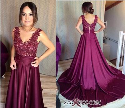 Sleeveless Appliques Zipper Luxury Lace Prom Dress UK BA7351_2