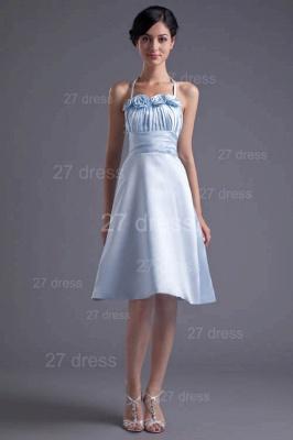 Modern Halter Sleeveless Short Cocktail Dress UK Flowers A-line_5