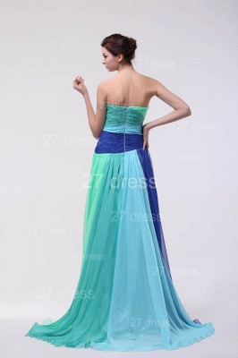 Colourful Evening Gowns Sweetheart Sleeveless A Line Sequins Crystal Floor Length Prom Gowns_3