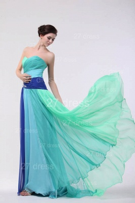 Colourful Evening Gowns Sweetheart Sleeveless A Line Sequins Crystal Floor Length Prom Gowns_2