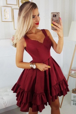 Sexy Sweetheart 2019 Short Homecoming Dress UK   Burgundy Mini Party Dress UK_1