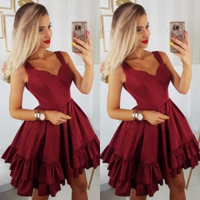 Sexy Sweetheart 2019 Short Homecoming Dress UK | Burgundy Mini Party Dress UK_3