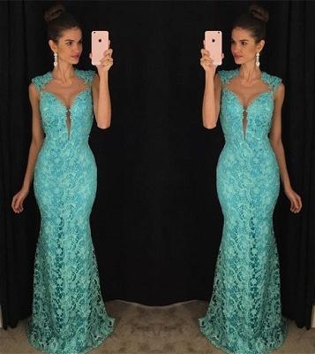 Delicate Lace Mermaid Prom Dress UK Sleeveless Sweep Train AP0_3