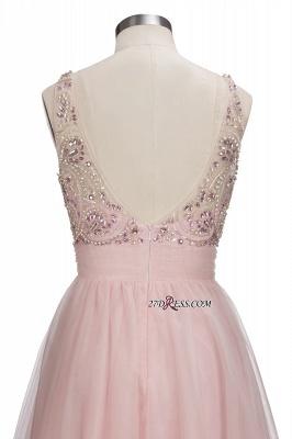 Fashion Pink Jewel Cap-Sleeve Tulle Short Cocktail Dress UKes UK_2