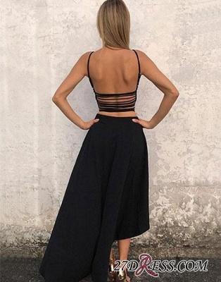 Sleeveless Stylish High-low Chiffon Backless A-line Evening Dress UK_1
