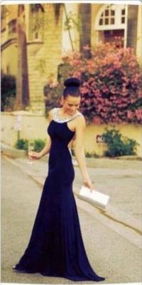 Backless Long Chiffon Prom Dress UK Beadings BA6715_2