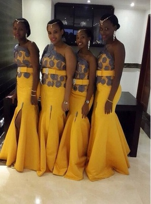 Beautiful Yellow One Shoulder Prom Dress UK On Sale_1